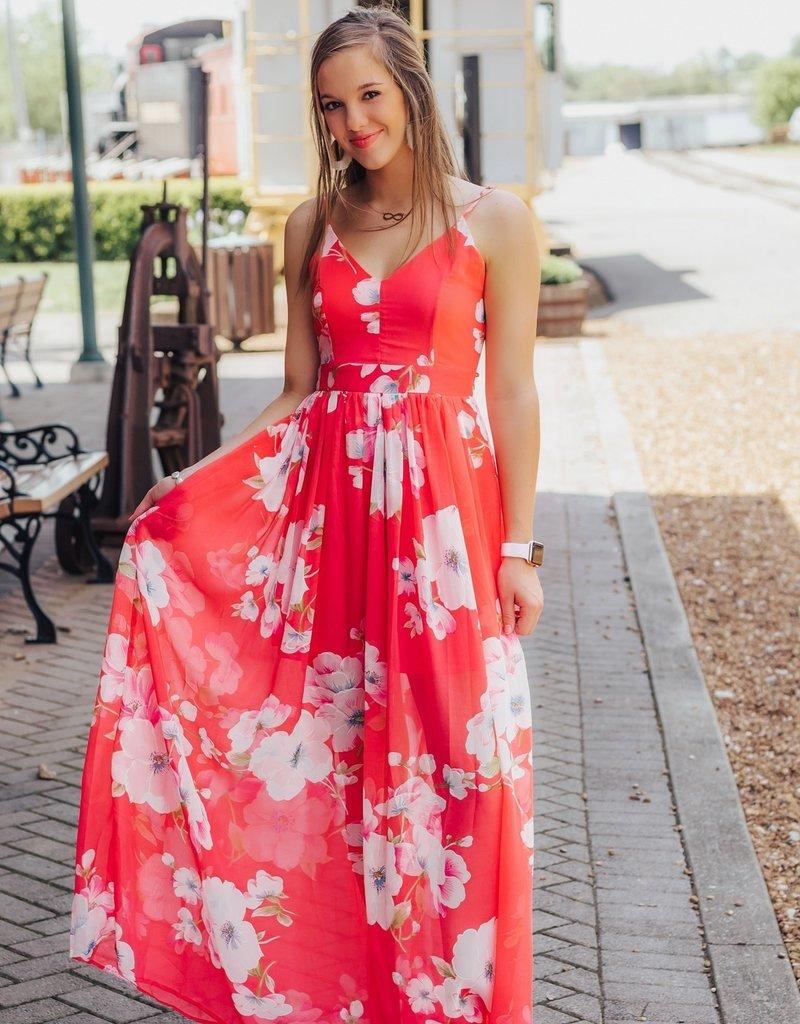 LUXE Destination Gorgeous Floral Maxi Dress
