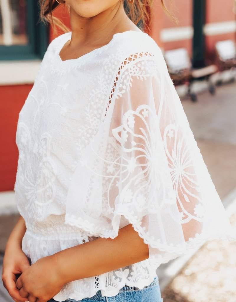 LUXE Do Everything With Love Lace Blouse