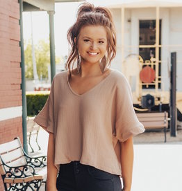 LUXE Just As You Are V-Neck Top