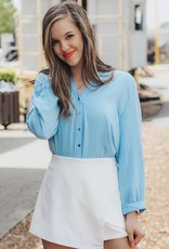 LUXE Sky's The Limit Button Down Top