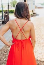 LUXE Sunset Romance Midi Dress
