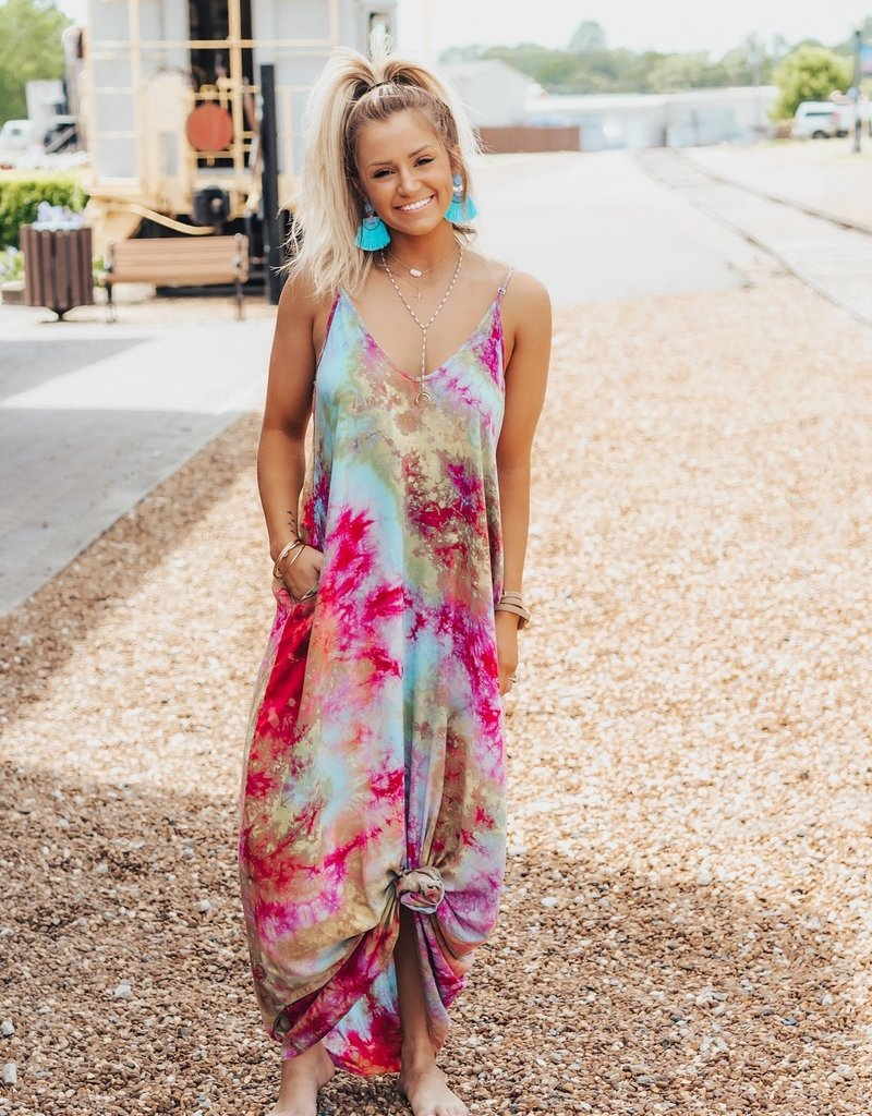LUXE Breezing Right Along Maxi Dress