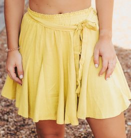 LUXE Go This Sway Tie Skirt
