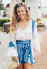 LUXE Leave It To Chance Striped Cardigan