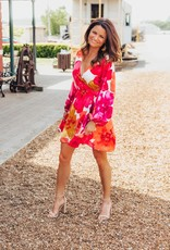 LUXE Blooming Love Floral Wrap Dress