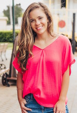 LUXE Fire It Up V-Neck Blouse