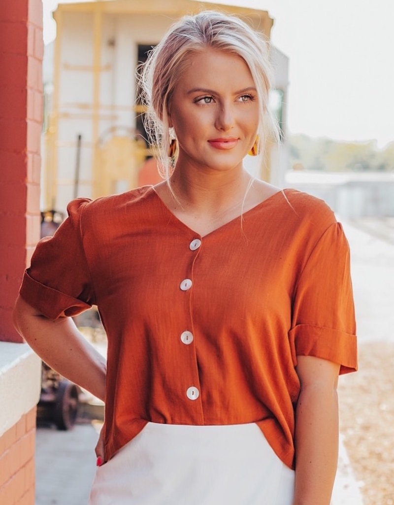LUXE More Than A Dream Button Down Blouse