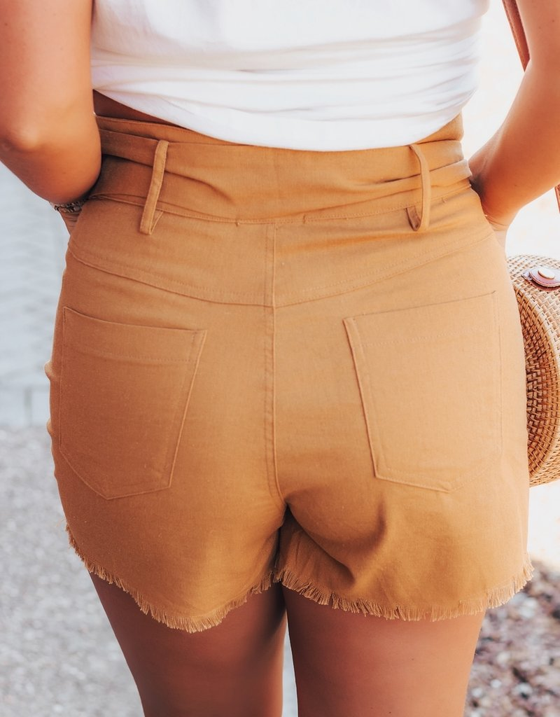 LUXE Mimosa Sunrise High Rise Shorts