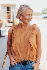 LUXE What A Time Eyelet Blouse