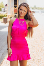 LUXE You Know Me Better Halter Dress