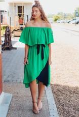 LUXE Effortless Love Off The Shoulder Midi Dress