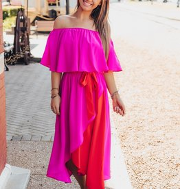 LUXE Effortless Love Off The Shoulder Midi Dress