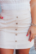 LUXE Finally Found Love Button Down Skirt