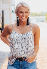 LUXE Wild About You Snakeskin Tank