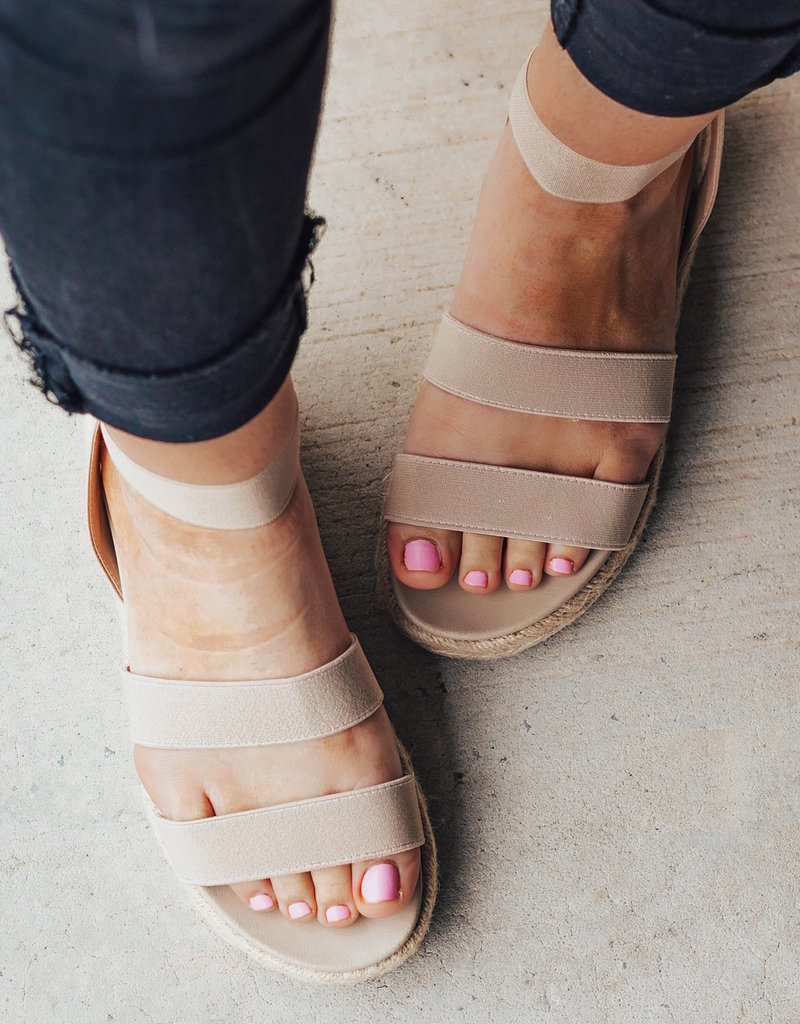 LUXE Getting Better Strappy Espadrille Sandal