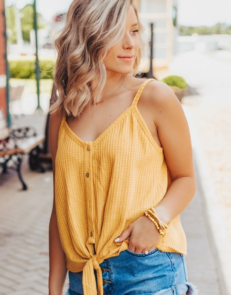 LUXE Brighter Days Button Down Tank