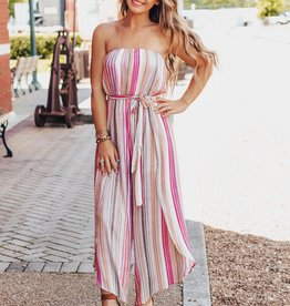 LUXE Packed + Ready Striped Jumpsuit