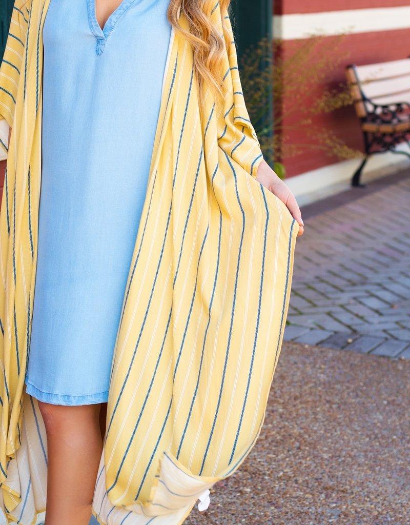LUXE Mind Over Matter Striped Kimono