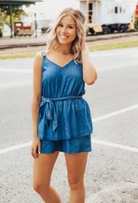 LUXE Out Of The Blue Denim Romper