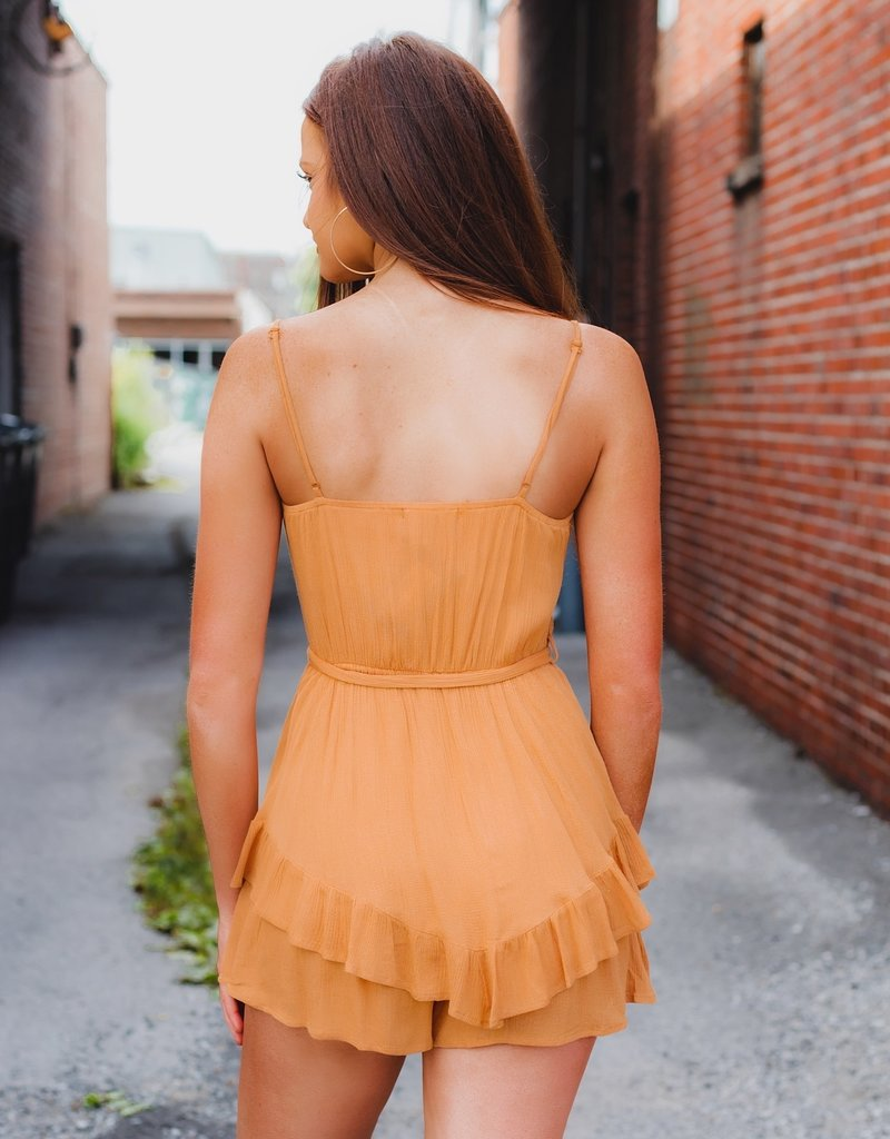 LUXE Acting Up Ruffle Tier Romper