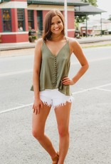 LUXE Look Out Button Down Tank