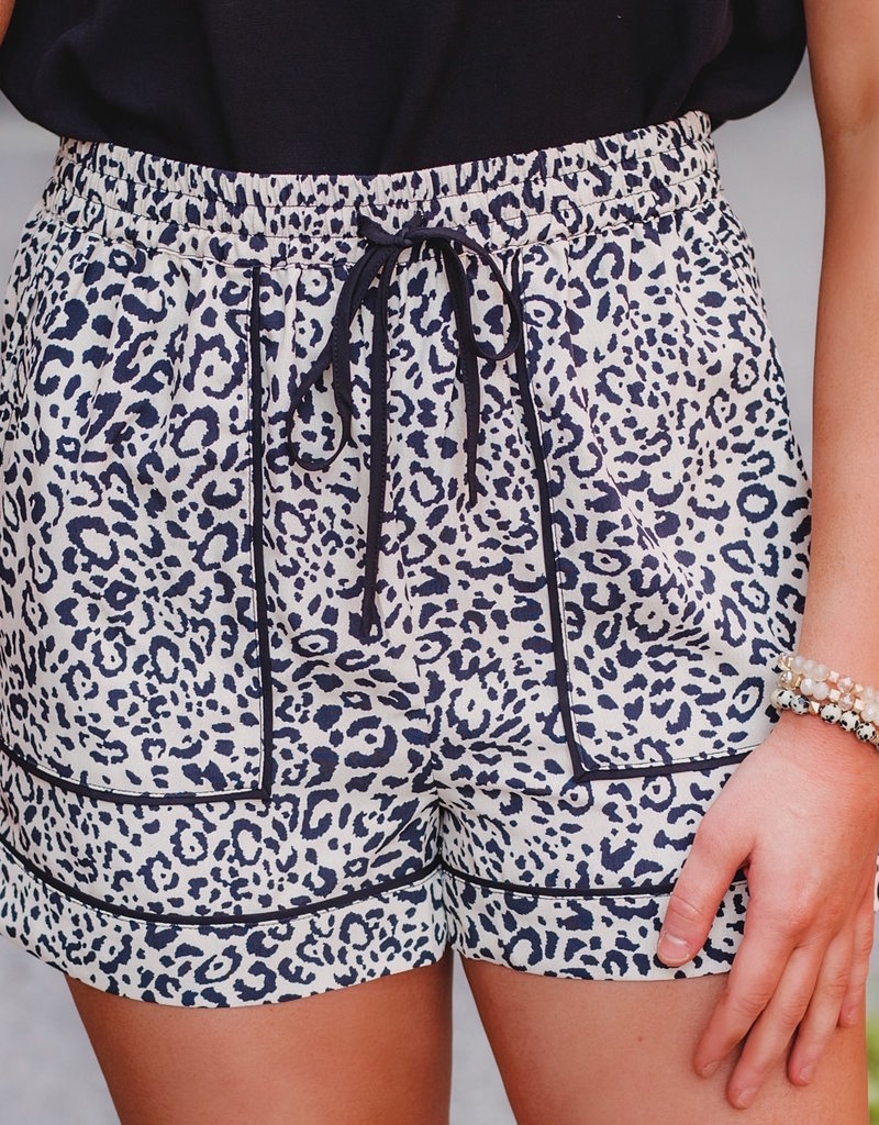 LUXE You're Purr-Fect Drawstring Shorts