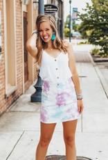 LUXE Social Butterfly Tie-Dye Mini Skirt