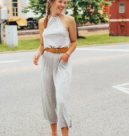 LUXE Enjoy This More Halter Jumpsuit