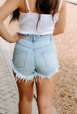 LUXE Days In The Sun Denim Shorts