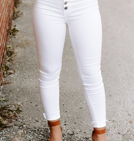LUXE A Beautiful Escape White Jeans