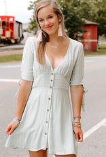 LUXE Easily Adored Button Down Dress