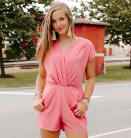 LUXE Somewhere New Pleated Romper