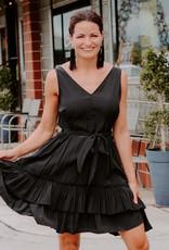 LUXE Simplified Style Ruffle Dress