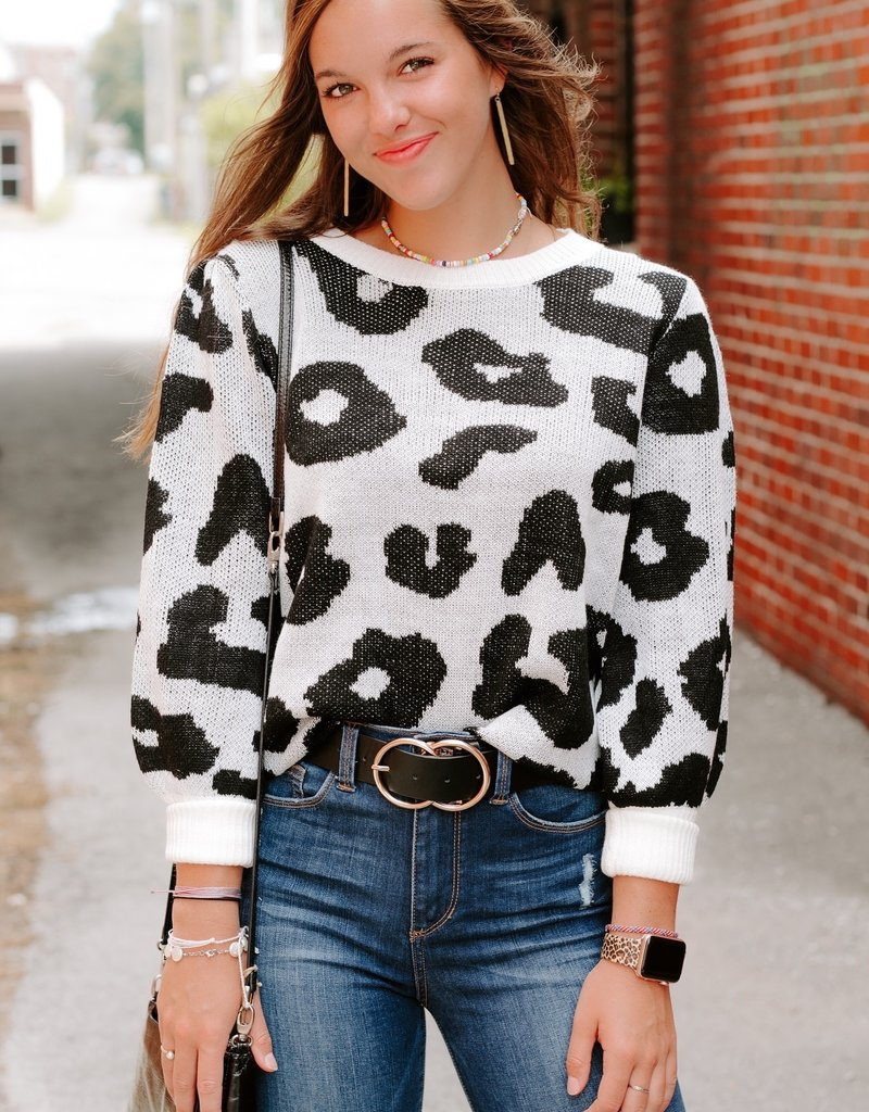 LUXE Chasing Chic Leopard Sweater