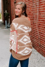LUXE Search For Inspiration Aztec Cardigan
