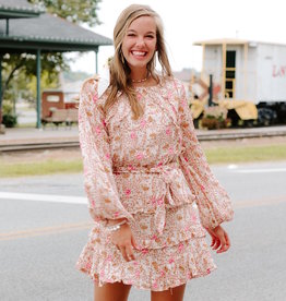 LUXE Overflowing With Class Ruffle Dress