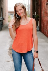 LUXE This Moment Burnt Orange Tank