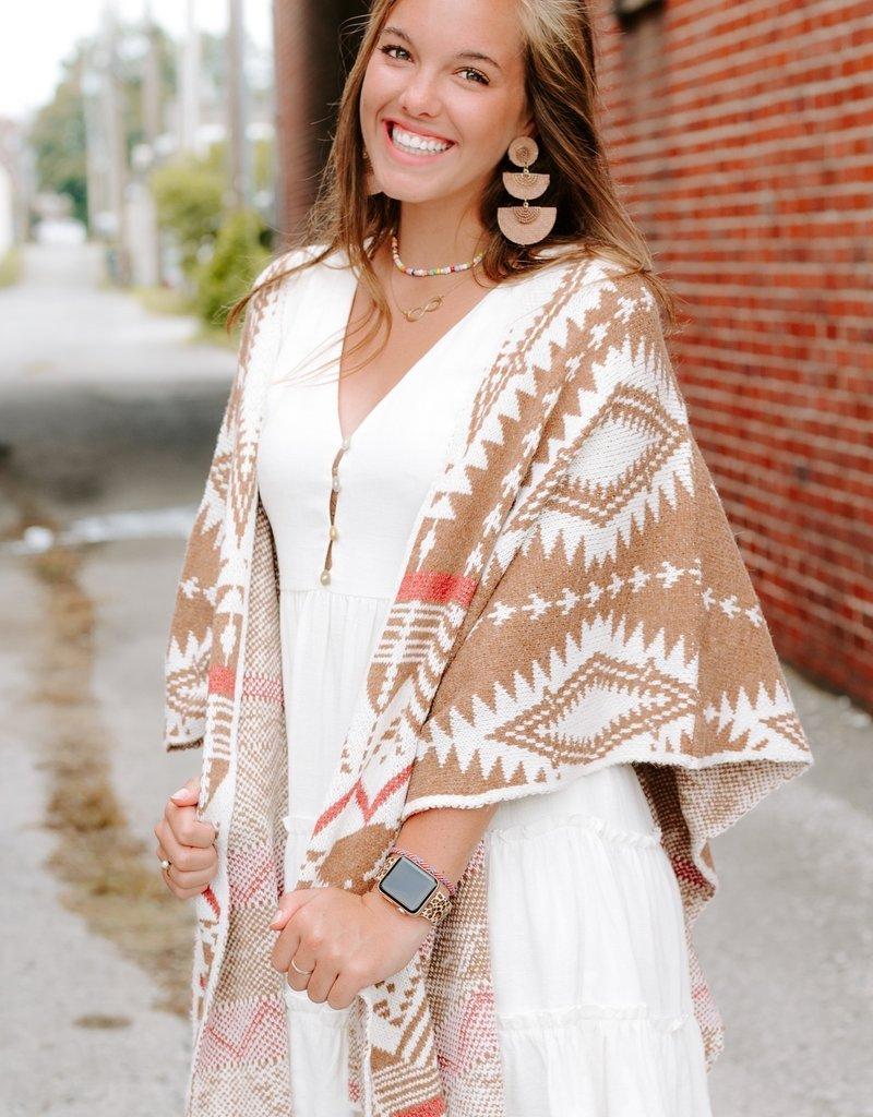 LUXE Pretty Please Aztec Kimono
