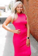 LUXE All Business Fushia Midi