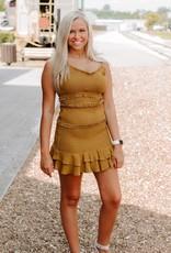LUXE Golden Heart Scrunch Dress