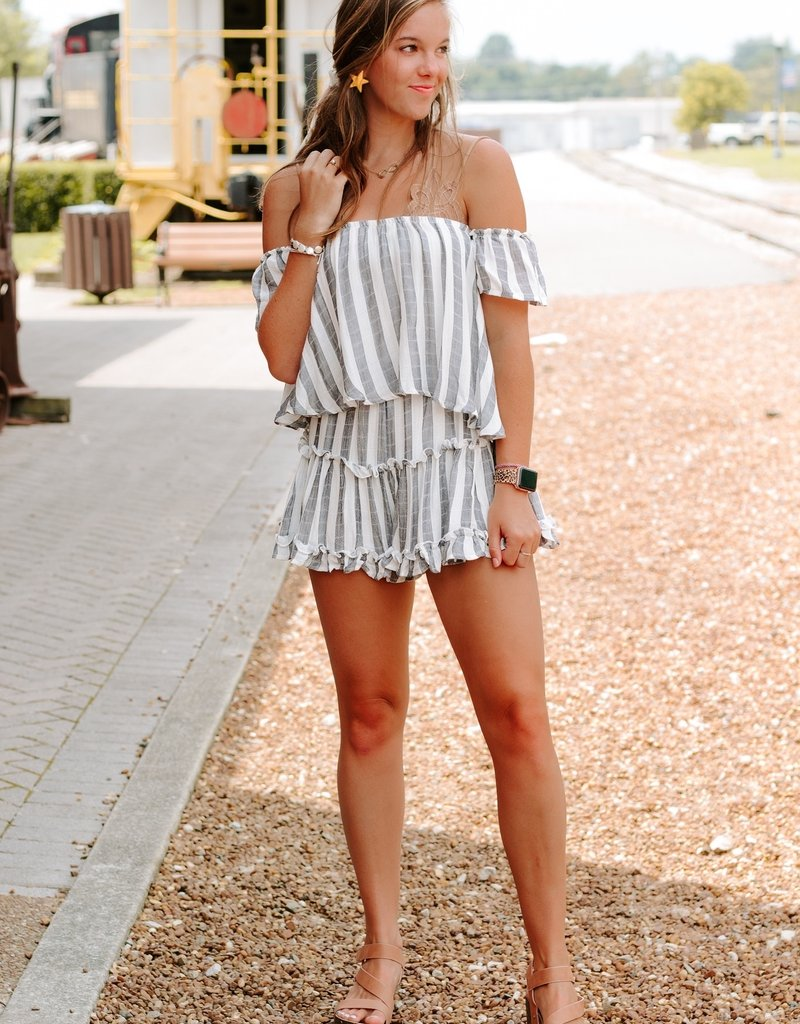 LUXE All The Frills Romper