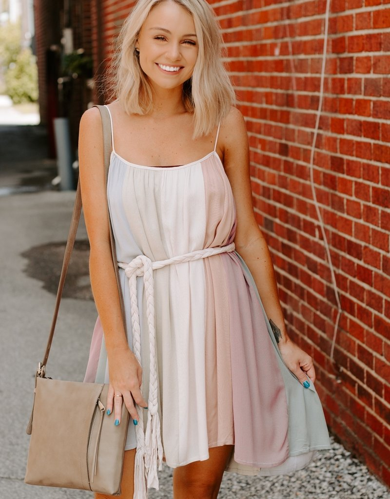 LUXE Boho Love Color Block Dress
