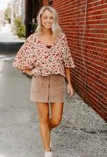 LUXE Classic Corduroy Skirt