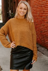 LUXE Just for the Weekend Mustard Sweater