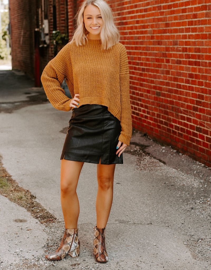 LUXE After My Heart Leather Skirt