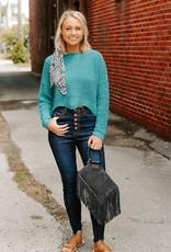 LUXE Crush on You Sea Green Sweater