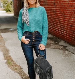 LUXE Crush on You Sea Green Sweater