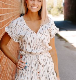 LUXE Neutral Territory Feather Romper