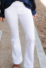 LUXE All The Rage White Flares