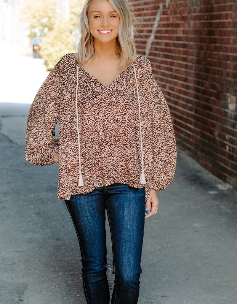 LUXE Cheetah licious Tie Top